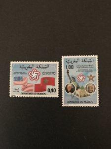 Morocco 1976 #375-6, MNH, CV $1.40