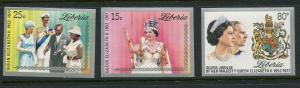 Liberia #788-90 Imperf MNH