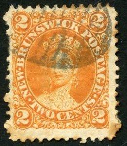 Canada-New Brunswick Scott 7 Used Good H - 1863 Queen Victoria - SCV $14.00
