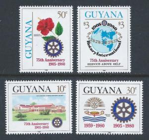 Guyana #318-21 NH Rotary Int'l 75th Anniv.