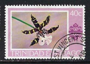 TRINIDAD & TOBAGO 286 VFU ORCHID X499-5