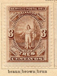 Salvador 1867-88 Early Issue Fine Mint Hinged 3c. NW-11832