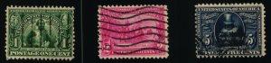 Scott #328-330 VF - Jamestown Expo - Used - 1907