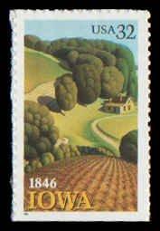 PCBstamps     US #3089 Bk Sgl 32c Iowa Statehood, self-adh., MNH, (8)