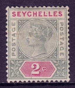 Seychelles - Scott #1 - MH - Creasing, some toning - SCV $3.50