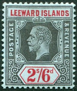 LEEWARD ISLANDS-1913 2/6 Black & Red/Blue Sg 56 MOUNTED MINT V33899