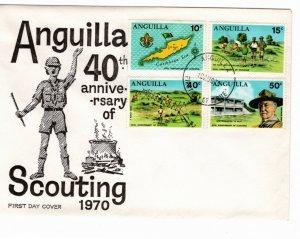 Anguilla 1970 Sc 95-8 Commemorative Perforate FDC-2