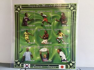 Mozambique 2001 Famous Players  World Cup 2002  MNH imperf  stamp  sheet R24512