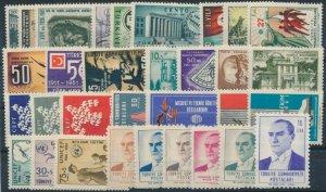 TURKEY / 1961 - COMPLETE YEAR SET