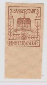Finsterwalde WWII Germany World War II Local Stamp 1946 3+2pf MNH** A20P4F170
