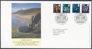 Great Britain Wales stamp Definitive set FDC Cover 2003 Mi 83-86 WS151573