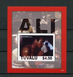 Tuvalu Boxing Stamps 2015 MNH Muhammad Ali Sports Famous People 1v S/S