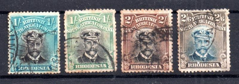 Rhodesia BSAC KGV 1s x 2 and 2s and 2s 6d used WS5443