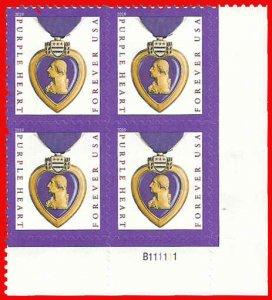 PCBstamps   US #5419 PB $2.20(4x{55c})Purple Heart, 2019, MNH, (4)