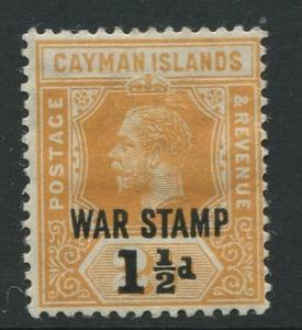 Cayman Islands -Scott MR6 -War Stamp Issue -1919 -MH -Single 1.1/2d on a 2.1/2d