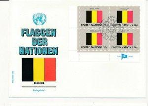 D112773 Flag Series Belgium FDC United Nations New York Bureau