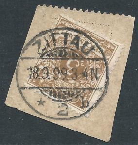 Germany, Sc #46a, 3pf Used on Piece (ZITAU CDS)