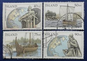 Iceland Discovery of Vinland 1000th Anniversary Scott # 902-5 Used (I862