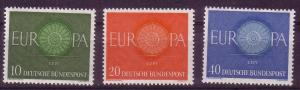 *Germany 1960 Europa Issue Sc 818-820 MNH