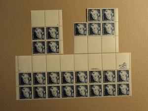 USPS Scott 2105 20c 1984 Eleanor Roosevelt Lot Of 3 Plate...