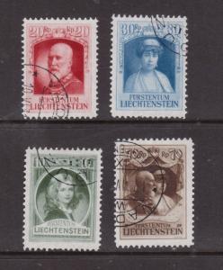 Liechtenstein #90 - #93 Very Fine Used