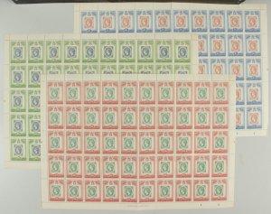 ST. LUCIA : 1960 Stamp Centenary set full sheets. MNH **. SCARCE!