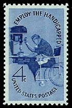 1155 Employ the Handicapped F-VF MNH single