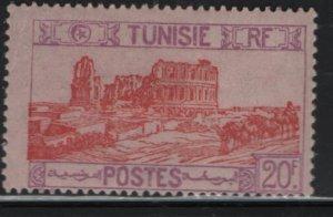 TUNISIA , 113, HINGED REMNANT, 1926-46 Roman Amphitheater, El Djem