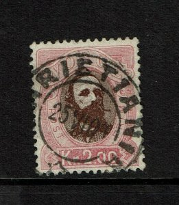 Norway SC# 34, Used, stamped on back - S9212