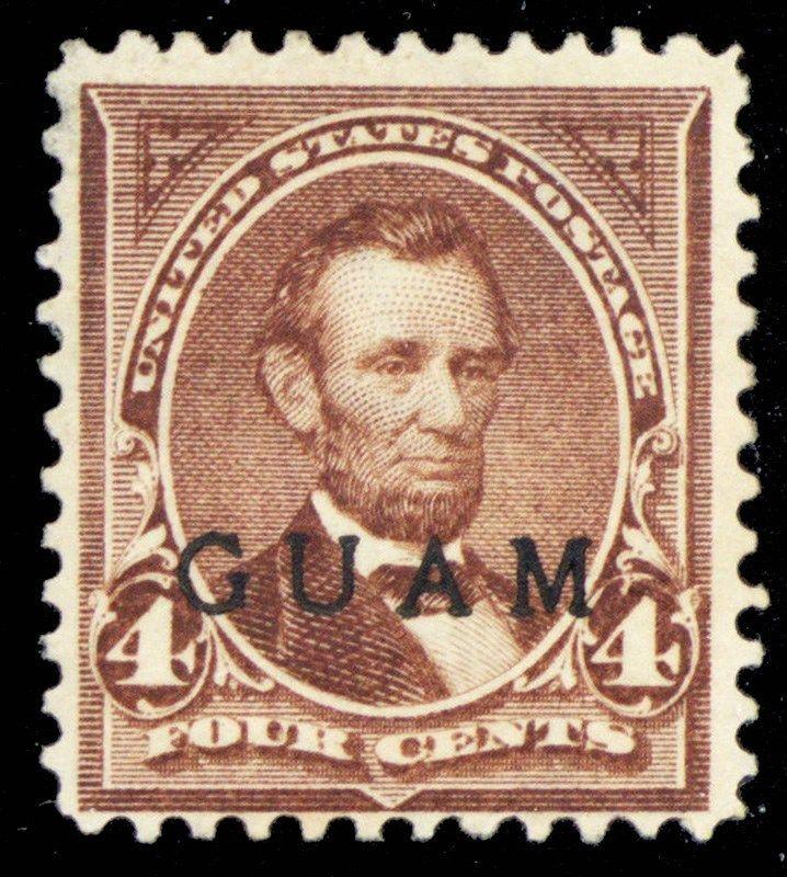 Guam #4, Unused 4¢ Lincoln Stamp Cat $125.00 - Stuart Katz