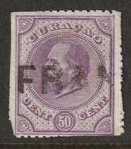 Netherlands Antilles 1873 Sc 6 used Franco cancel trimmed