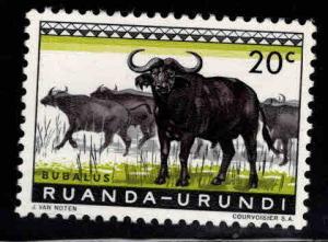 Ruanda-Urundi Scott 138 MH*  colorful wildlife stamp