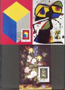 Liechtenstein 1999 Art  3 Maxi Cards FDC