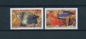 [49245] New Caledonia 1988 Marine life fish corals  MNH