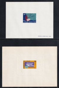FRANCE CONGO DELUXE PROOFS x2 35Fr, 50Fr ONE DIE PROOF ONE PARIS PRINT #29
