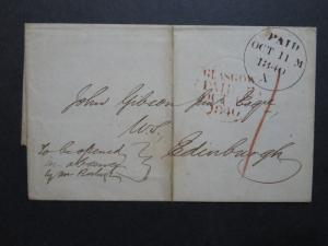 Scotland Glasgow 1840 Stampless Cover to London / No Letter  - Z8693