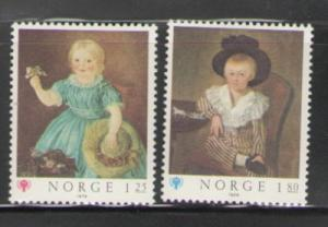 Norway Sc 744-5 1979 Year of Child paintings stamps mint NH
