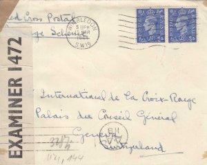 1944, Wimbledon, England to Red Cross, Geneva, Switzerland, See Remark (C3080)