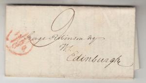 SCOTLAND, 1806 Entire, ABERDEEN to Edinburgh.