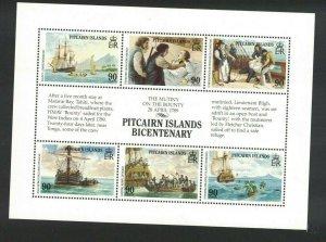 MPN13) Pitcairn Islands 1989 Bicentenary Settlement II Sheetlet MUH