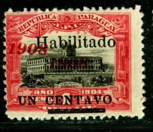 PARAGUAY  1908 Governmental Palace -HABILITADO- Sc#171  1908 DOUBLE