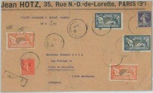 79256 - FRANCE - POSTAL HISTORY -  COVER FRONT to PALMA de Mallorca SPAIN 1928