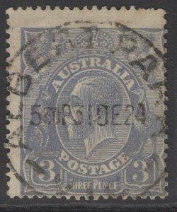 AUSTRALIA SG79 1924 3d DULL ULTRAMARINE USED