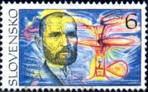 Inventor, Jan Bahyl, Slovakia stamp SC#211 used