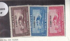 Romania: Sc #C7-C9, MH (34808)