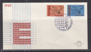 NETHERLANDS, 1965 Europa pair on First Day cover.