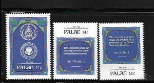 PALAU, 155-157 , MNH, US CONSTITUTION BICENTENNIAL