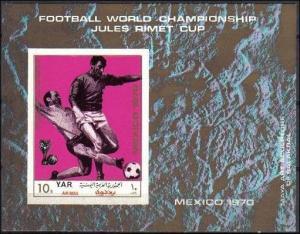 1970Yemen (Arab R. YAR )1173/B134b1970 World championship on football of Mexi