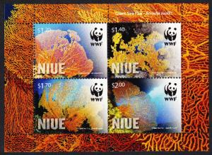 Niue WWF Giant Sea Fan Corals Miniature Sheet SALE BELOW FACE VALUE
