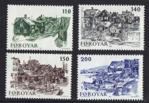 Faroe Islands 1981 MNH Old Torshavn complete